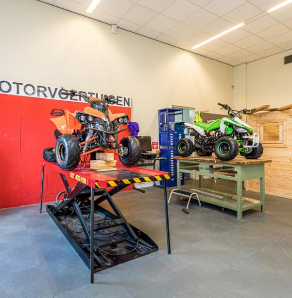 Garage ruimte van het Herlecollege in Heerlen