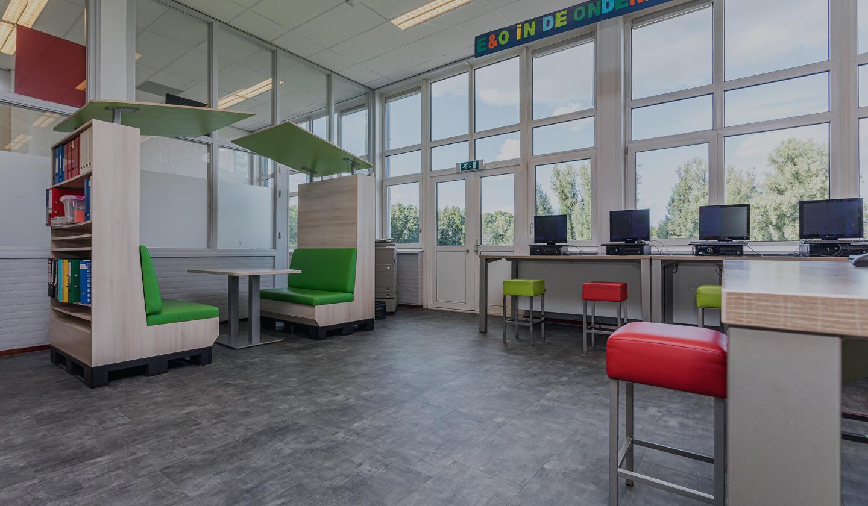 ID2 Projectinrichting heeft de inrichting verzorgd van het Herlecollege in Heerlen
